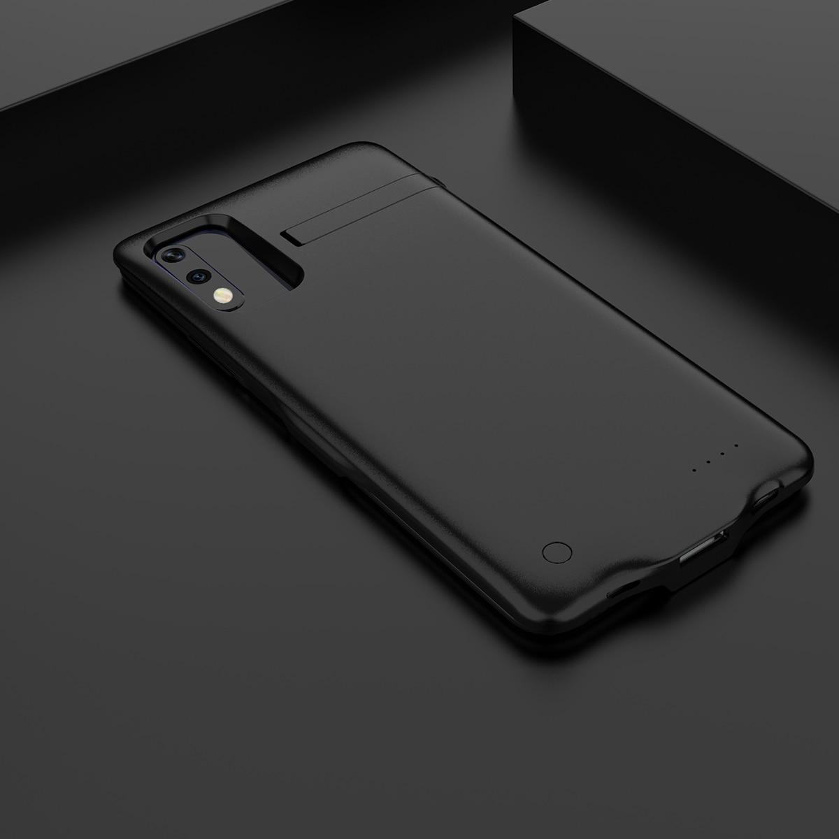 Для Huawei Honor 9X6500 мАч чехол для зарядного устройства Расширенный аккумулятор запасная Мощность Защитный чехол противоударный задний Чехол бант Funda