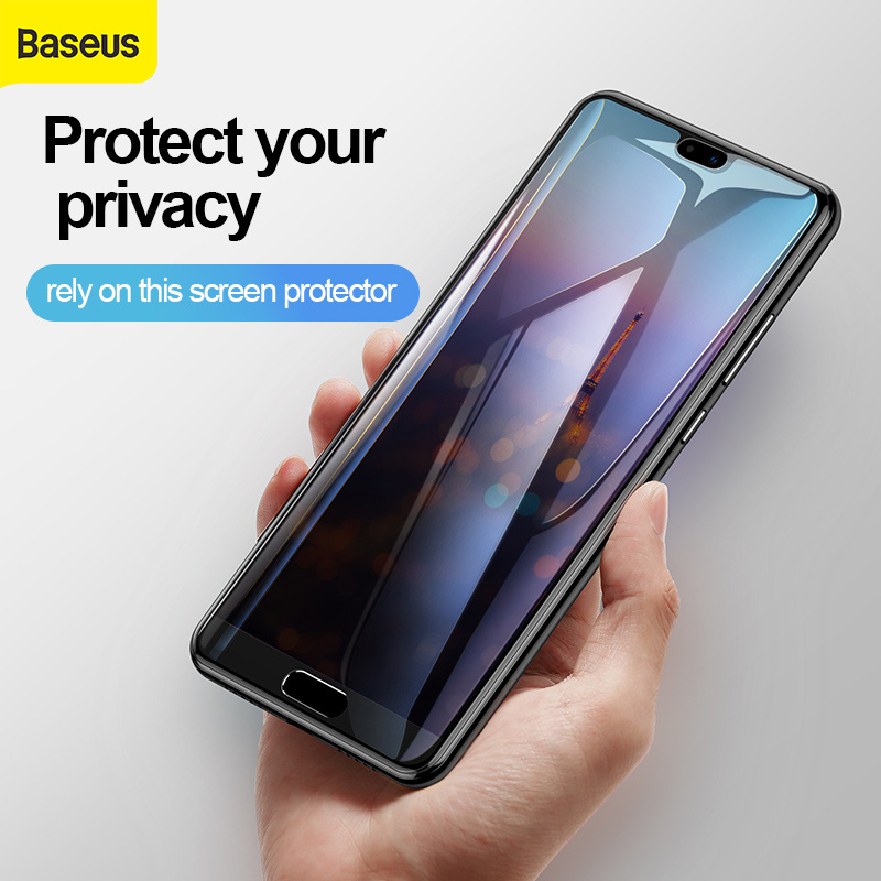 Baseus 0.3mm Full screen tempered glass screen protector For HUAWEI P20 privacy screen protector For HUAWEI P20 Pro Screen Film|Phone Screen Protectors| |  - title=