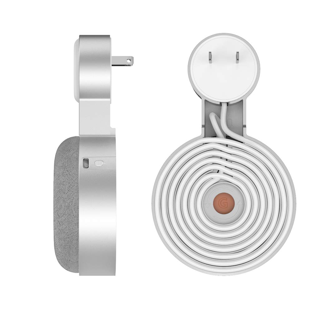 For Google Home Mini Wall Mount Holder Caremoo Space-Saving Design Outlet Mount, Perfect Cord Management For Google Home Mini