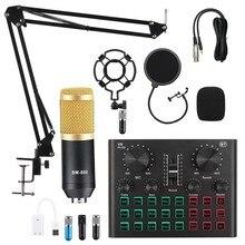 V8x pro audio mixer bm800 condensador microfone placa de som ao vivo bluetooth usb jogo dsp gravação streaming profissional v8 plus
