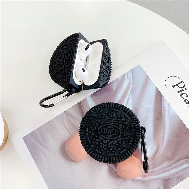 Cute Oreo 3D Milk Chocolate biscuit Wireless Bluetooth Earphone Case For AirPods Pro 3 2 1 Soft Silicone Headset cover