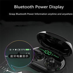 Mini C5S TWS touch sterowania Bluetooth TWS słuchawki 5.0 bezprzewodowe słuchawki douszne 9D zestaw słuchawkowy stereo z ładowarka banku zasilania zestaw głośnomówiący