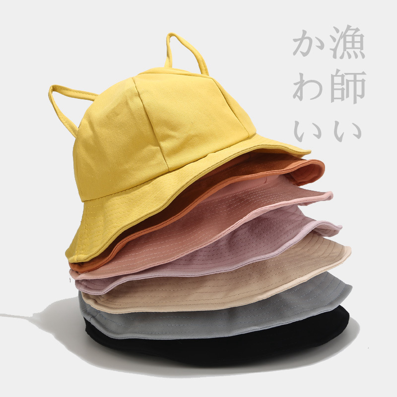 Sparsil Summer Sun Hat Solid UV Protection Foldable Bucket Hat