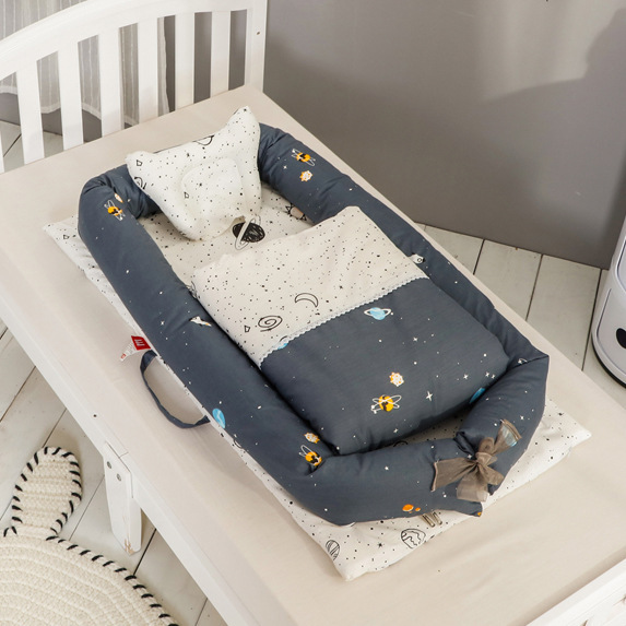 Infant Sleeping Crib Detachable Washable Baby Bed Nursery Basket Nursery Boy Girl Travel Folding Bed Toddler Cradle Carrycot Bed