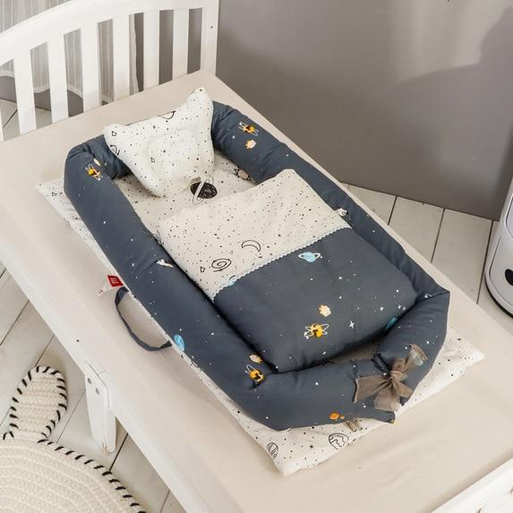 Infant Sleeping Crib Detachable Washable Baby Bed Nursery Basket Nursery Boy Girl Travel Folding Bed Toddler Cradle Carrycot Bed