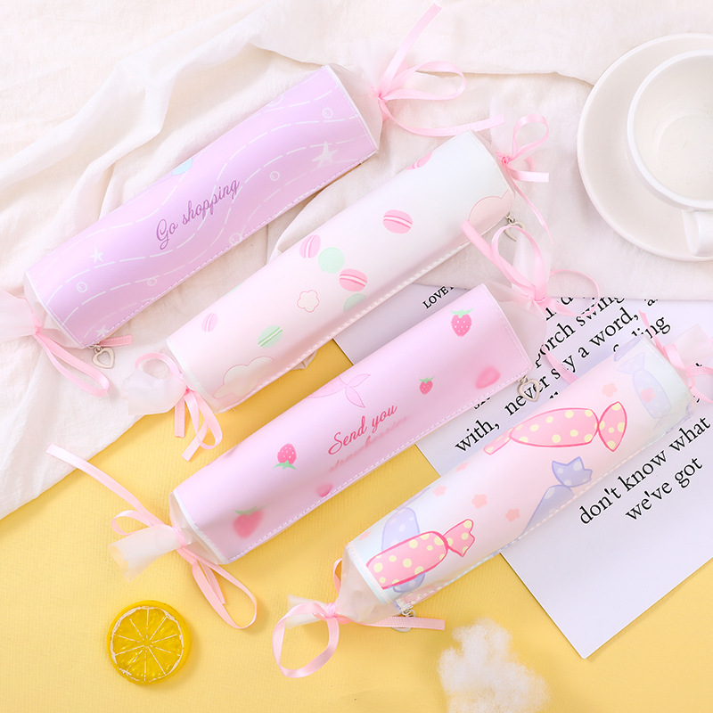 L0062 South Korea Hipster Creative Candy Pencil Case Cute GIRL'S Heart Large-Volume Lead Pencil Case Students Stationery Bag
