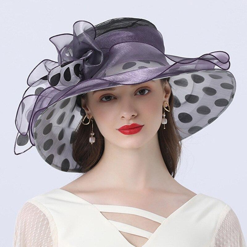 Women Bridal Hat Black