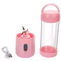 Personal Portable Blender With 480Ml Travel Bottle,Served Smoothie Blender Six Blades In 3D Superb Mixing Personal Size Mixer Fr