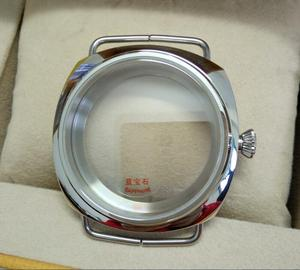 Image 2 - 45mm Sapphire crystal Polished Stainless Case Fit 6497 6498 Movement High quality watchcase wholesale 010a