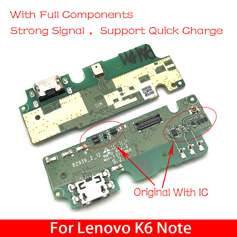 USB Charging Port Flex Ribbon For Lenovo K6 Note K6Note K53a48 Dock Charger Connector Plug Board With Microphone