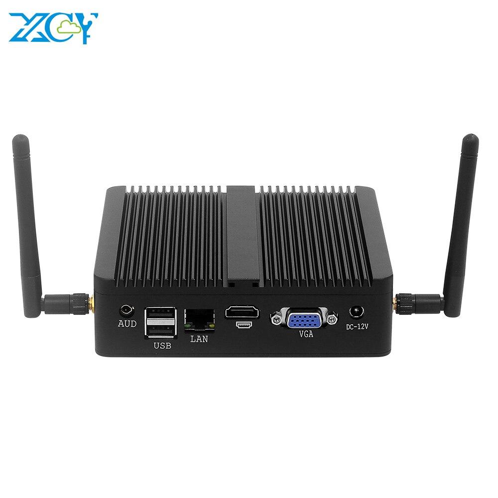 XCY Mini PC Intel Core I7 4500U DDR3L RAM MSATA SSD Windows 10 8*USB HDMI VGA 2.4/5.0G WiFi Bluetooth 4.0 Gigabit LAN Fanless