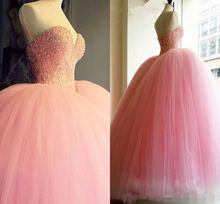 Роскошное Розовое Бальное платье для выпускного вечера милое