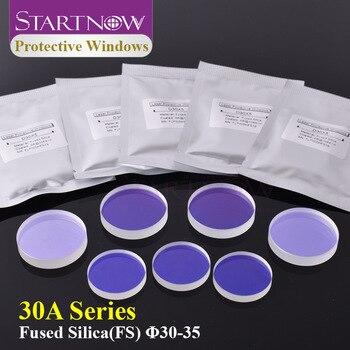 Lentes Startnow para ventanas de protección láser de fibra, de cuarzo, accesorios de máquina de corte láser 30x5 34x5 para Precitec Lasermech