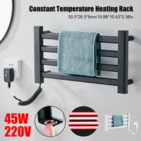 Bathroom Fittings Electric Heated Towel Rack,Waterproof Stainless Steel Sterilizing Smart Towel Dryer,Towel Warmer.Heated Towel