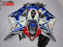 Motorcycle Fairing Kit For Honda CBR600RR F5 2007-2008 Injection ABS Plastic Fairings CBR 600RR 07-08 Bodyworks Gloss White Blue цены