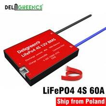 LiFePO4 BMS 4S 60A pour 12V LiFePO4 batterie Au Lithium LiPO Fer batterie rechargeable avec équilibre fonction imperméable à leau