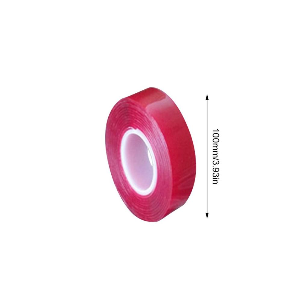 Heavy Duty Double-sided Tape White Red Film Transparent High Viscosity Car Tape 3 Meters Long Transparent Acrylic Glue