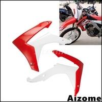 Motorcycle Dirt Bike Radiator Shrouds For Honda CRF450R 2013 2016 CRF250R 2014 2017 Motocross Radiator Plastic Covers