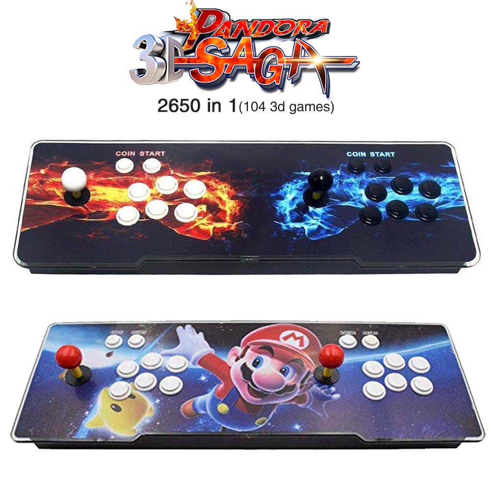 3D Pandora Saga Box 2650 in 1 Save Function Multiplayer Joysticks and Buttons Retro Arcade Games Console Cabinet support 3P 4P image