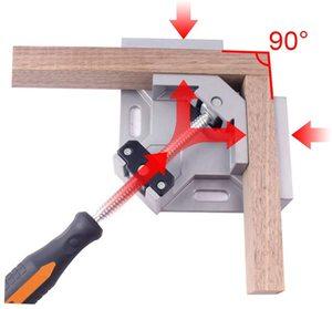 Image 4 - Алюминиевый угловой зажим AMKOY 90 градусов, прямоугольный зажим, инструмент, одна ручка, деревянные металлические сварочные зажимы, тиски для деревообработки, держатель