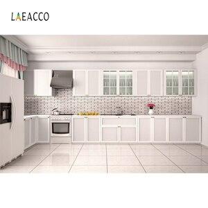 Image 5 - Laeacco Moderne Keuken Photophone Potplanten Kast Kookplaat Fotografie Achtergronden Interieur Decor Foto Achtergronden Photozone