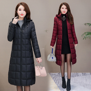 Image 5 - 2020 yeni kışlık ceketler kadın artı boyutu 4XL rahat kapşonlu sıcak pamuk yastıklı ceket kadın uzun şişme ceket kadınlar Parkas kabanlar