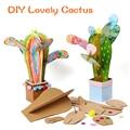 Игрушки для творчества и рукоделия для детей, картонная бумага, материал, ручной, милый кактус, рамка для детского сада, обучающие игрушки дл...