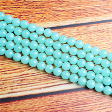 Blue Australian Jade Natural Stone Bead Round Loose Spaced Beads 15 Inch Strand 4/6/8 / 10mm For Jewelry Making DIY Bracelet