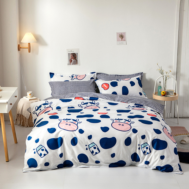 Solstice Bedding Set Blue and White