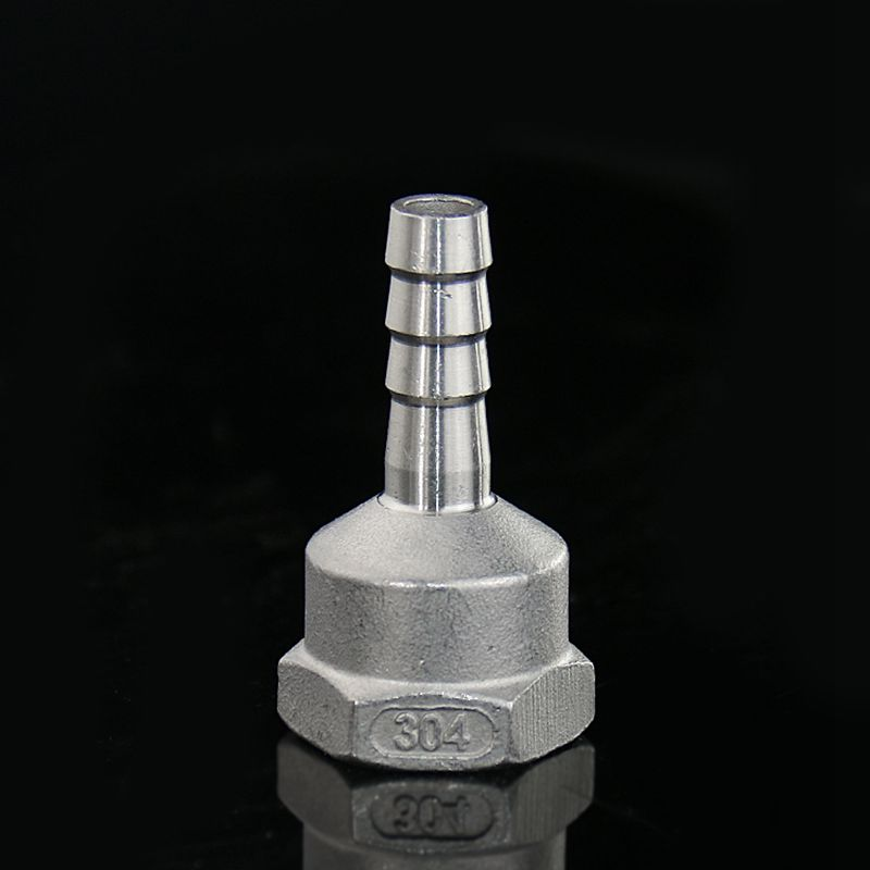 16mm X 1/2'' BSP Female Thread 304 Stainless Steel Pipe Fitting X Barb Hose Tail Reducer Pagoda Joint Coupling Connector