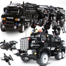 WOMA kompatybilne lego SWAT policji miejskiej ramiona ciężarówka samochodów zestawy modelu budynku zestawy helikopter pojazdu bloki zabawki dla dzieci dla dzieci tanie tanio SLUBAN Certyfikat WOMA Police Mobile Station Don t bite Chłopcy 6 lat Z tworzywa sztucznego Samozamykajcy cegły Red Mix-color