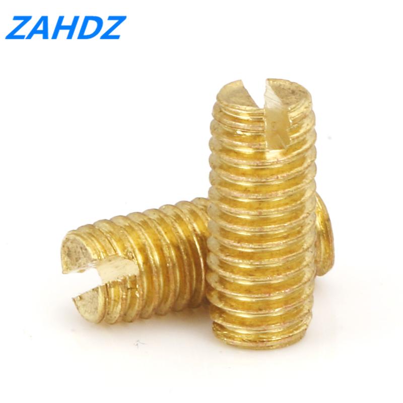 brass slotted screw bolt grub flat end slot set screws bolts grubs M3 20pcs