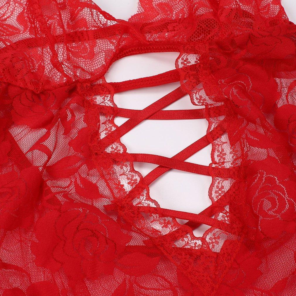 Hot! New Women's Mesh Sexy Lace Lingerie Strap Sleevesless Dress+G String Garter Set Underwear Nightwear Sleepwear Babydoll Hot