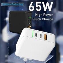 高速pdガン充電器usbタイプcクイック充電器サポートafc pps scp fcp qc pd 4.0 3.0充電器iphoneアプリプロラップトップ、スマートフォン