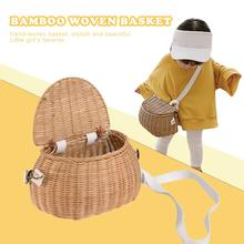 Bicycle Basket Children Backpack Bike Tricycle Scooter Supplies Kids Artificial Weaving Wicker