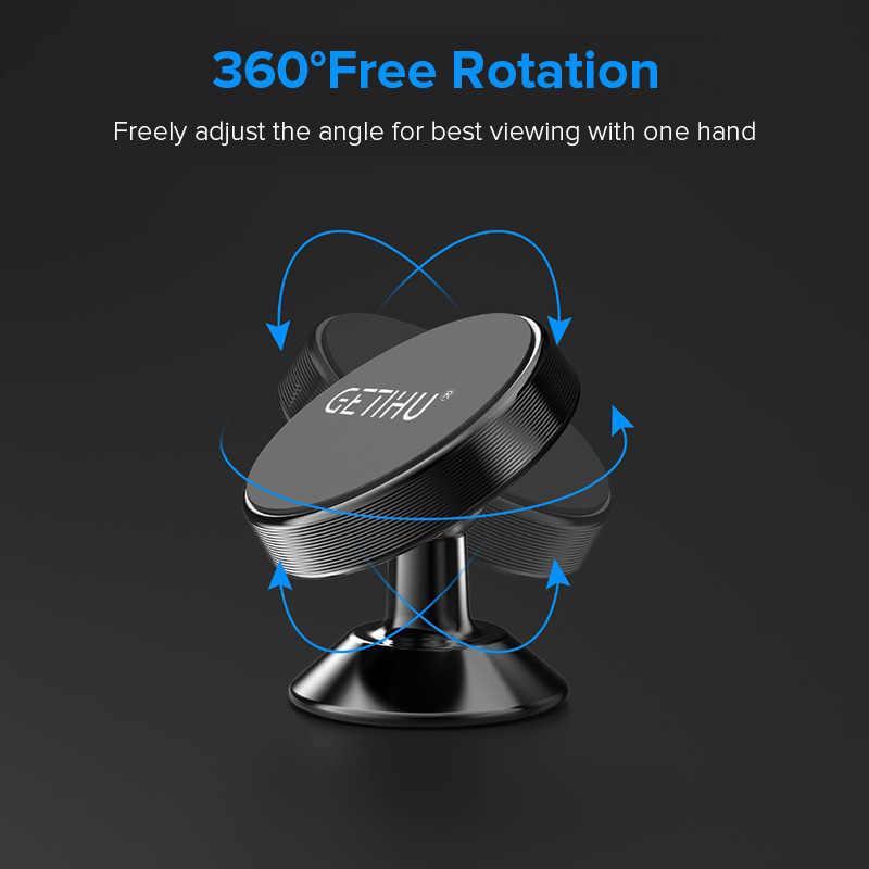 GETIHU العالمي حامل هاتف السيارة المغناطيسي الوقوف في سيارة آيفون X سامسونج المغناطيس الهواء تنفيس جبل خلية دعامة هاتف محمول لتحديد المواقع