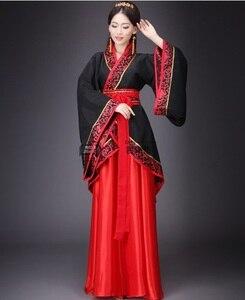 Image 2 - Starożytne chińskie przebranie na karnawał starożytne w chińskim stylu Hanfu kobiety Hanfu ubrania pani etap Hanfu sukienka do chińskiego narodowego ubrania