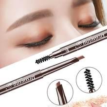 1 pçs lápis de sobrancelha rotatable sobrancelha enhancer longa duração maquiagem lápis olho à prova dwaterproof água escova de sobrancelha maquiagem cosméticos ferramenta