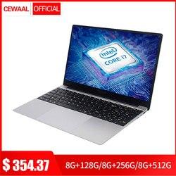 15.6 inch Intel Core 7Gen i7 Laptop 8GB RAM 512GB SSD Windows 10 Metal Notebook 2.4G/5G Dual WiFi Laptop Accessories HDMI USB