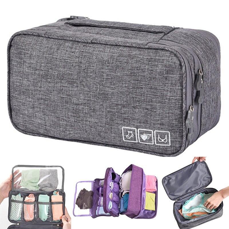 Travel Bra Organizer Container Underwear Case Travel Portable Storage Bag Box Protect