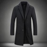 New fall raincoat men's collar changed into Slim Fit long coat men's windbreak wall 5XL in 2019