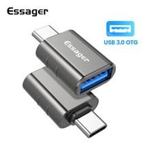 Essager – adaptateur USB 3.0 Type C USB-A à C et connecteur OTG USB-C à A, convertisseur pour Samsung Xiaomi Iphone Huawei USB-C