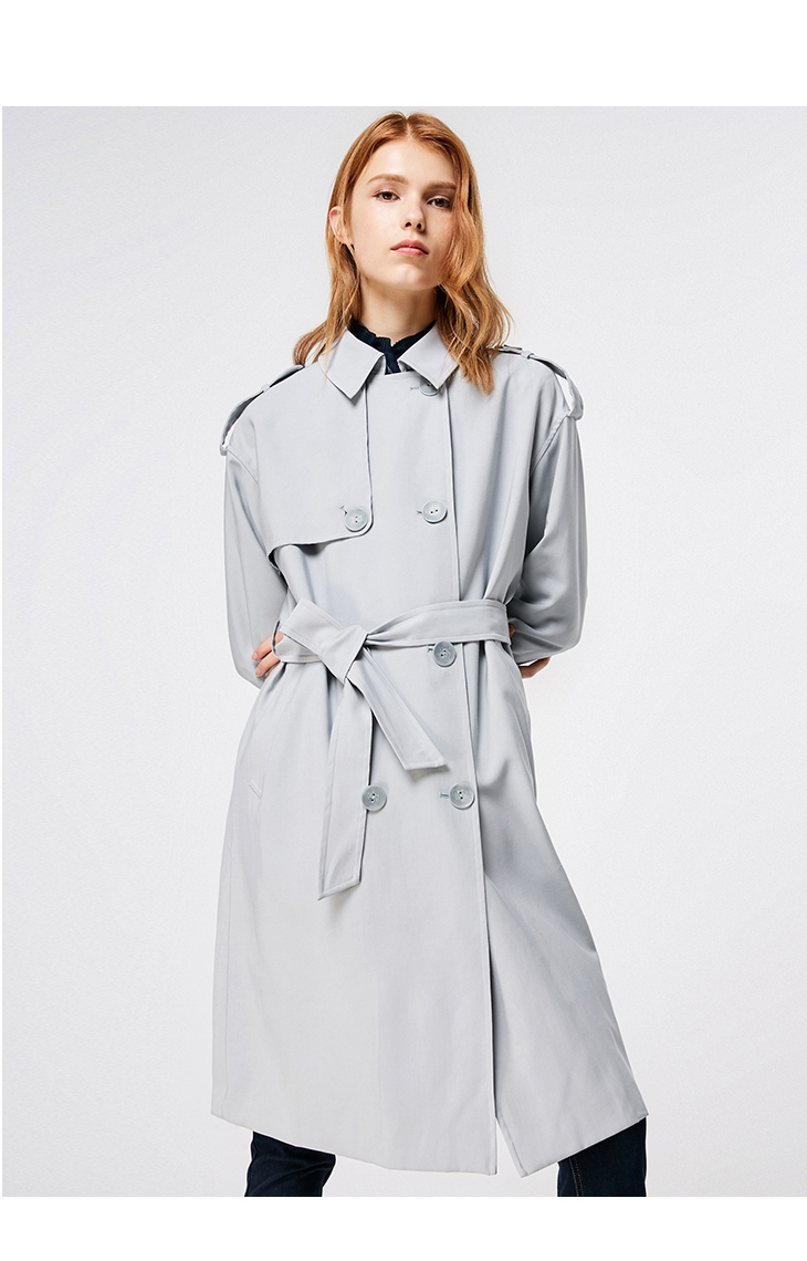 ONLY 19 Women's Loose Fit Long Wind Coat |119136568 15