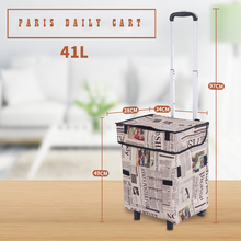 E-FOUR Car Trolley Folding Shopping Luggage Portable Hand Cart Collapsible Trolley Bags Folding Shopping Bag with Wheels Grocery stair climbing sack trolley unique wheel designed with carbon steel material 6 wheeled stair climbing folding hand trolley