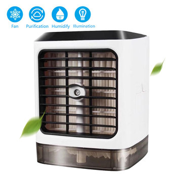 4IN1 Mini Air Conditioner 7 Colors LED USB Personal Space Cooler Fan Conditioning Humidifier Purifier Rechargeable Fan Desk personal page 7