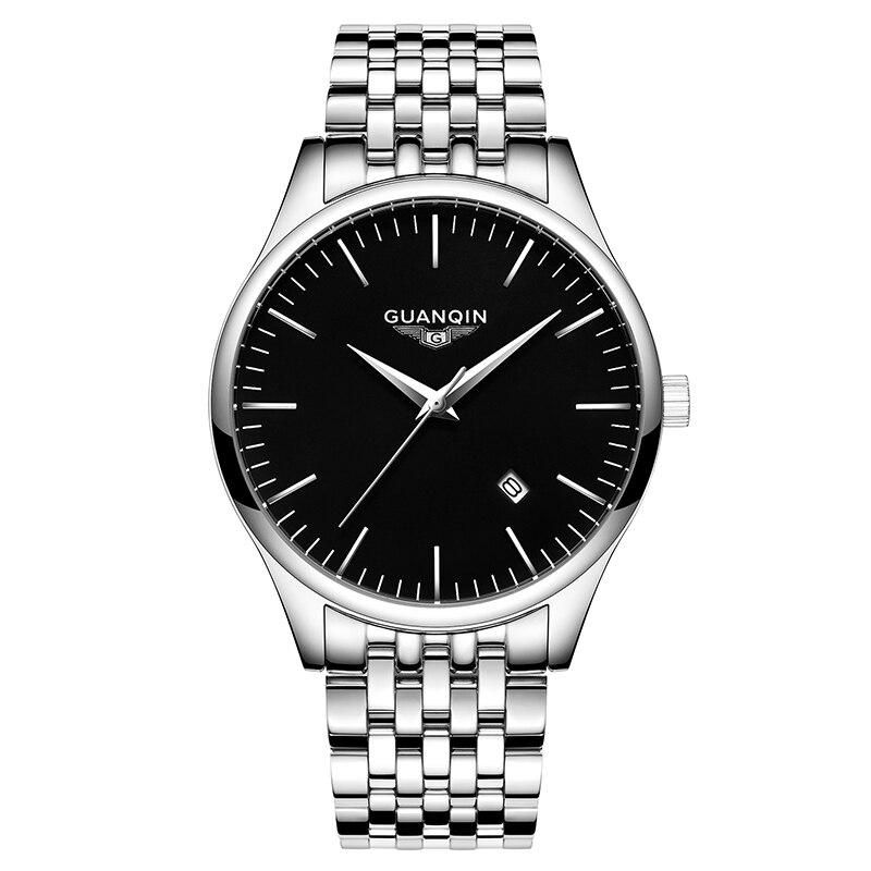 GUANQIN GS19035 montres hommes de luxe marque Quartz montre hommes analogique Date horloge hommes complet en acier montre-bracelet relojes hombre