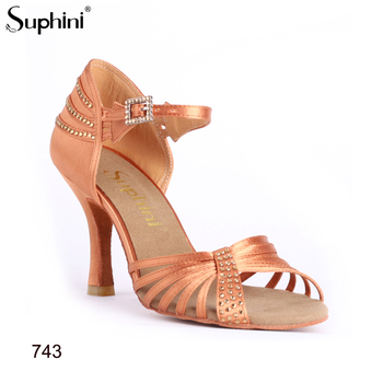 8.5cm height Heel Hot Sale Dance Shoes Suphini Latin Dance Shoes FREE SHIPPING