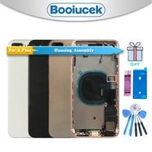 Aaa + qualidade para o iphone 8 8g ou 8 plus com cabo flexível volta habitação cobertura da bateria de montagem completa porta traseira chassi quadro médio