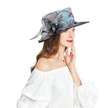 Fedoras Hat Multicolor Fascinator For Women Elegant Church Organza  Headpiece Panama Jazz Hats Trilby Kentucky Derby Party