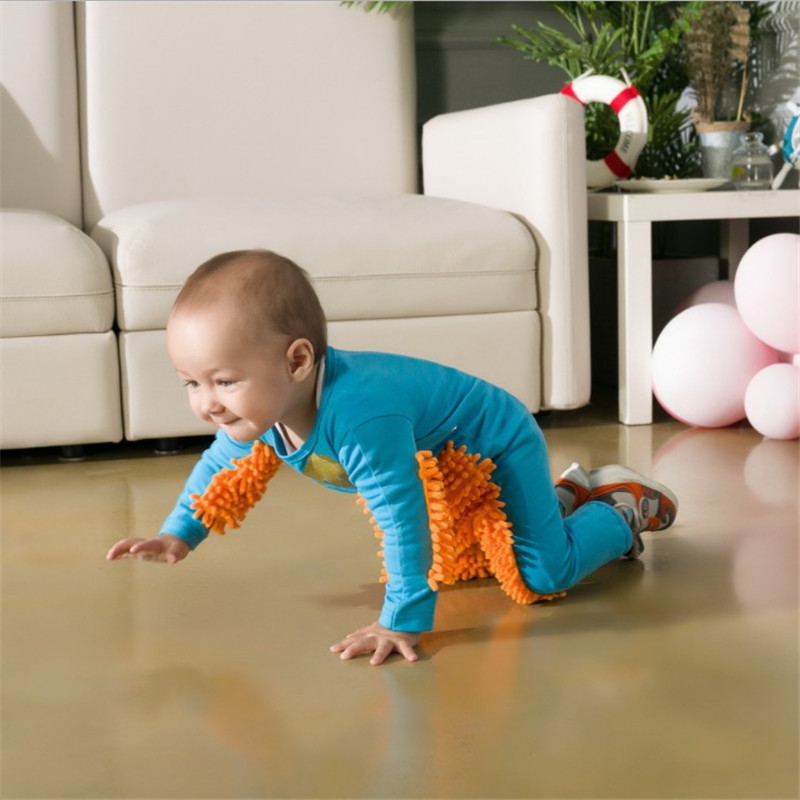 Infant Mop Romper One-piece Crawling Clothes Floor Cleaning Newborn Outfits